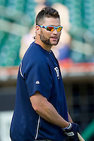 Tampa Bay Rays designated hitter Luke Scott (30) during batting practice prior to the game against the Detroit Tigers at Comerica Park on June 4, 2013 in Detroit, Michigan.  The Tigers defeated the Rays 10-1.  Brian Westerholt/Four Seam Images
