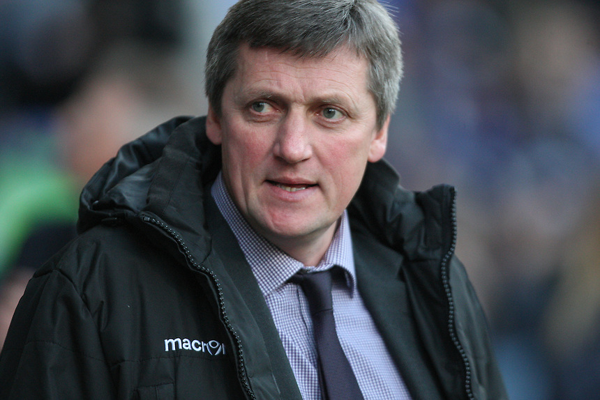 Bolton Wanderers interim manager Jimmy Phillips before the start of the first half<br /> <br /> Photographer Alex Dodd/CameraSport<br /> <br /> Football - The Football League Sky Bet Championship - Bolton Wanderers v Charlton Athletic - Tuesday 19th April 2016 - Macron Stadium - Bolton <br /> <br /> &copy; CameraSport - 43 Linden Ave. Countesthorpe. Leicester. England. LE8 5PG - Tel: +44 (0) 116 277 4147 - admin@camerasport.com - www.camerasport.com