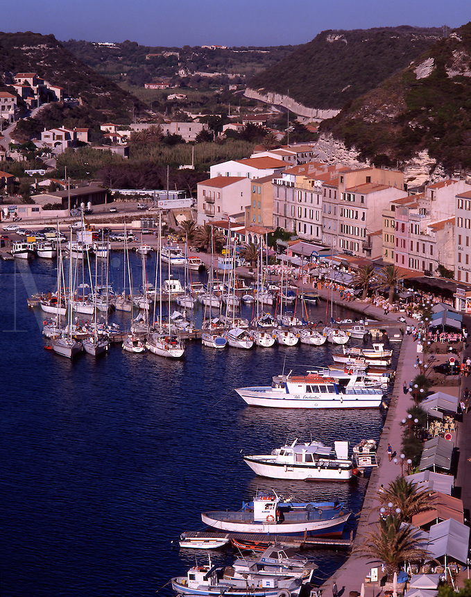 France. Corsica. Bonifacio harbor from the Fortress.
