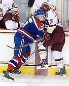 Maury Edwards (Lowell - 7), Cam Atkinson (BC - 13) - The Boston College Eagles defeated the visiting University of Massachusetts-Lowell River Hawks 5-3 (EN) on Saturday, January 22, 2011, at Conte Forum in Chestnut Hill, Massachusetts.