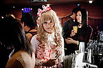 Tokyo, April 27 2013 - Laura Bodewig (knickname) at Propaganda party in Tokyo. Once a month, around 300 people gather to celebrate men dressed as girls. Josou (???can be married men who wish to have a new experience by dressing as women.