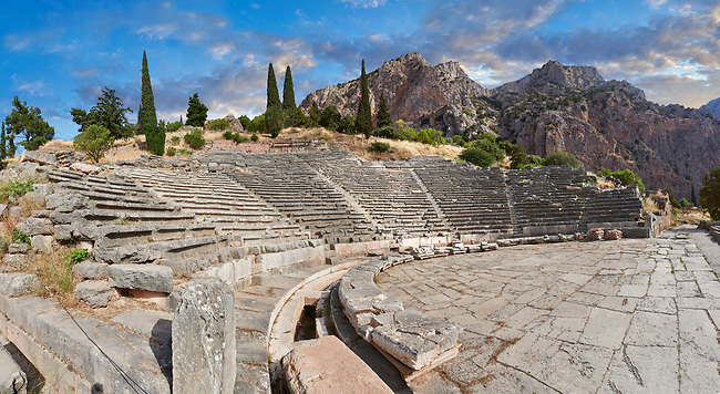Ancient Greek Theatre of Delphi, Delphi Archaeological site, Delphi, Greece