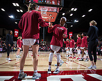 Stanford, CA - January 24, 2020: Estella Moschkau, Kiana Williams at Maples Pavilion. The Stanford Cardinal defeated the Colorado Buffaloes in overtime, 76-68.