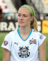 Becky Sauerbrunn #11 of Marta's XI during the WPS All-Star game against Abby's XI at the KSU Stadium in Kennesaw, Georgia on June 30 2010. Marta XI won 5-2.