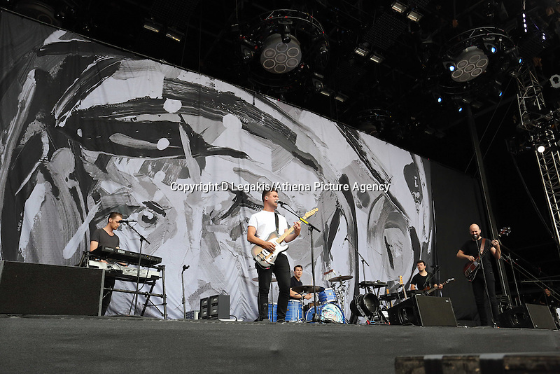 Pictured: White Lies support act. Wednesday 02 July 2014<br />