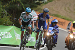 Miguel Angel Lopez Moreno (COL) Astana Pro Team and Enric Mas Nicolau (ESP) Quick-Step Floors battle it out on the final climb near the end of Stage 20 of the La Vuelta 2018, running 97.3km from Andorra Escaldes-Engordany to Coll de la Gallina, Spain. 15th September 2018.                   <br /> Picture: Colin Flockton | Cyclefile<br /> <br /> <br /> All photos usage must carry mandatory copyright credit (© Cyclefile | Colin Flockton)