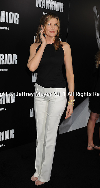 """HOLLYWOOD, CA - SEPTEMBER 06: Rene Russo attends the """"Warrior"""" Los Angeles Premiere at ArcLight Cinemas on September 6, 2011 in Hollywood, California."""