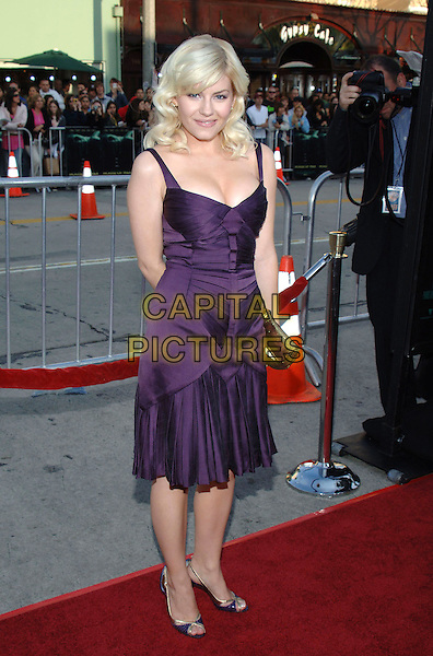 "ELISHA CUTHBERT.""House of Wax"" Los Angeles Premiere held at Mann Village Theatre, Beverly Hills, California.April 26th, 2005.Photo Credit: Jacqui Wong/AdMedia.full length purple dress gathered cleavage.www.capitalpictures.com.sales@capitalpictures.com.© Capital Pictures."