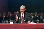 Washington, DC - March 12, 1997 - Anthony Lake, CIA Director-designate testifies during the hearing before the United States Senate Intelligence Committee on his nomination on Capitol Hill in Washington, DC on March 12, 1997.<br /> Credit: Ron Sachs / CNP