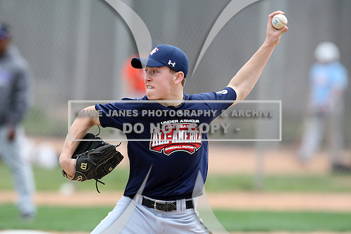 January 17, 2010:  Jeremy Scheck (Vernon Hills, IL) of the Baseball Factory American Team during the 2010 Under Armour Pre-Season All-America Tournament at Kino Sports Complex in Tucson, AZ.  Photo By Mike Janes/Four Seam Images