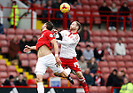 Aaron Martin of Coventry City challenged by Matt Done of Sheffield Utd - English League One - Sheffield Utd vs Coventry City - Bramall Lane Stadium - Sheffield - England - 13th December 2015 - Pic Simon Bellis/Sportimage-