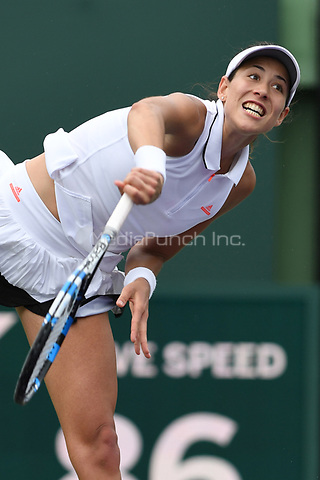 KEY BISCAYNE, FL - MARCH 25 : Sabine Muguruza Vs Shuai Zhang during the Miami Open at Crandon Park Tennis Center on March 25, 2017 in Key Biscayne, Florida. Credit: mpi04/MediaPunch
