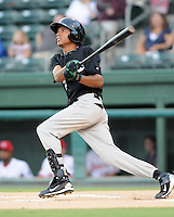 Infielder Luis Nieves (2) of the Savannah Sand Gnats in Game 1 of the South Atlantic League Southern Division Championship against the Greenville Drive on Sept. 8, 2010, at Fluor Field at the West End in Greenville, S.C. Photo by: Tom Priddy/Four Seam Images
