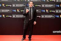 "Actor Jorge Sanz posses in the photocall of the ""Vivir es facil con los ojos cerrados"" film presentation during the 61 San Sebastian Film Festival, in San Sebastian, Spain. September 24, 2013. (ALTERPHOTOS/Victor Blanco) /Nortephoto"
