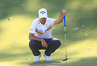 Chase Koepka (USA) in action on the 8th during Round 1 of the ISPS Handa World Super 6 Perth at Lake Karrinyup Country Club on the Thursday 8th February 2018.<br /> Picture:  Thos Caffrey / www.golffile.ie<br /> <br /> All photo usage must carry mandatory copyright credit (&copy; Golffile | Thos Caffrey)