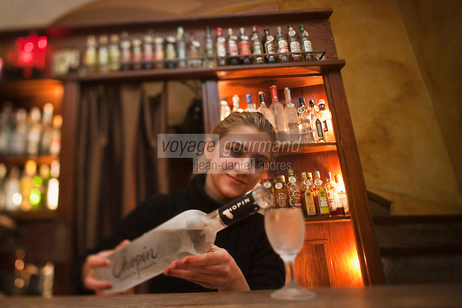 Europe/Voïvodie de Petite-Pologne/Cracovie:    Bar Wodka dans la rue Mikolajska