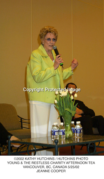 ©2002 KATHY HUTCHINS / HUTCHINS PHOTO.YOUNG & THE RESTLESS CHARITY AFTERNOON TEA.VANCOUVER, BC, CANADA 5/25/02.JEANNE COOPER