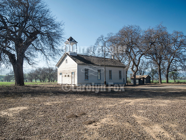 Historic 1868 vintage Cañon School District one-room school house, Capay Valley, Calif.