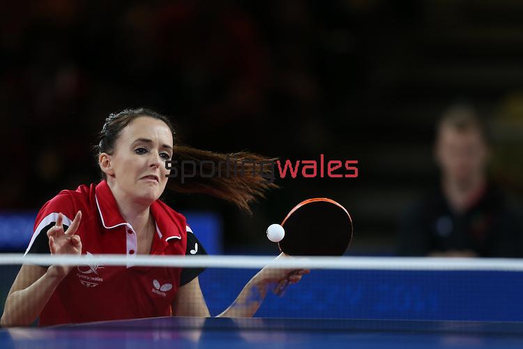 Glasgow 2014 Commonwealth Games<br /> Megan Phillips v Anniesa Benstrong<br /> Women's Table Tennis <br /> <br /> 29.07.14<br /> ©Steve Pope-SPORTINGWALES
