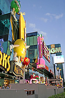 Bright neon lighting signs night The Strip Las Vegas Nevada