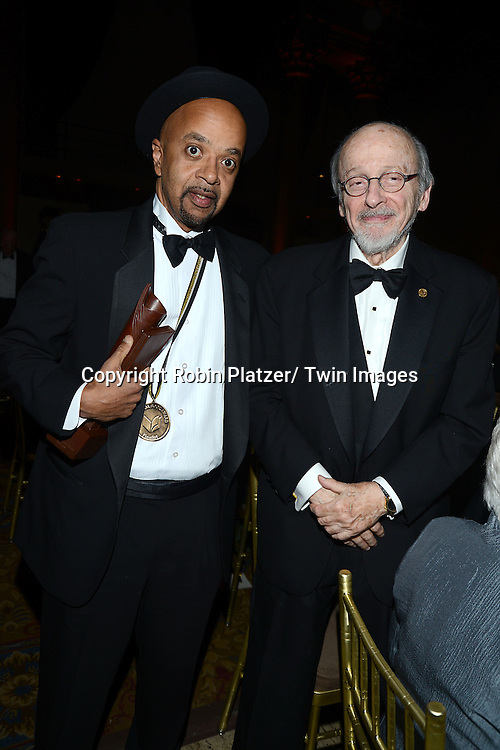 winner for fiction James McBride and EL Doctorow attend the the 2013 National Book Awards Dinner and Ceremony on November 20, 2013 at Cipriani Wall Street in New York City.