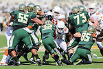Baylor Bears running back Shock Linwood (32) in action during the game between the Texas Longhorns and the Baylor Bears at the McLane Stadium in Waco, Texas.
