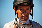 Jockey, Victor Espinoza at Betfair Hollywood Park in Inglewood, California on June 30, 2012.