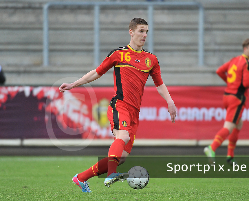 Belgium U19 - England U19 : Gianni De Neve.foto DAVID CATRY / Nikonpro.be
