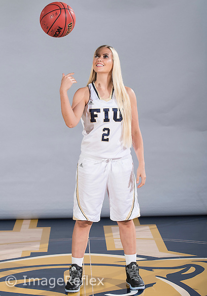 Florida International University women's basketball guard Jade Cheek (2) at picture day on October 14, 2015 at Miami, Florida.