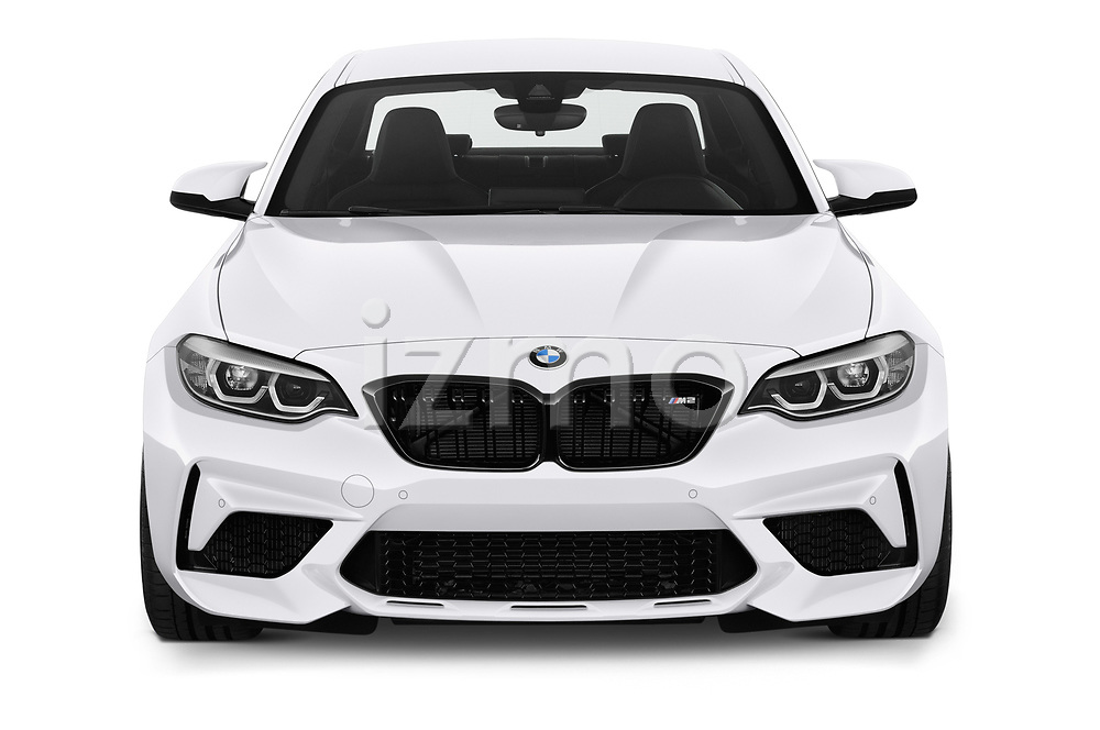 Car photography straight front view of a 2019 BMW m2 competition Base 2 Door Coupe