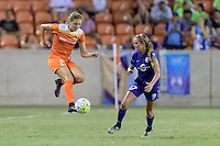 Houston, TX - Saturday Sept. 03, 2016: Cami Privett, Dani Weatherholt during a regular season National Women's Soccer League (NWSL) match between the Houston Dash and the Orlando Pride at BBVA Compass Stadium.
