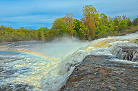 Trent River at cascading Healey Falls<br />