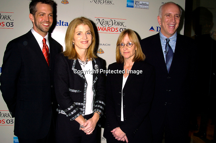 Carter Etherington, Caroline Kennedy, Caroline Miller and publisher Larry Burstein ..at the 2003 New York Magazine Awards on December 15, 2003 at the Four Seasons Restaurant . Photo by Robin Platzer, Twin Images