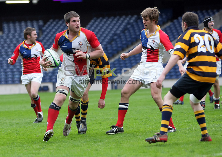 PICTURE BY VAUGHN RIDLEY/SWPIX.COM - Rugby Union - Scottish Hydro Electric Cup Finals Day - Plate Final - Portobello FP RFC v Aberdeen University RFC - Murrayfield, Edinburgh, Scotland - 03/05/08...Copyright - Simon Wilkinson - 07811267706..Aberdeen University's Murray Wyllie.