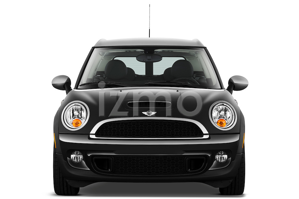 Straight front view of a 2011 Mini Cooper Clubman S