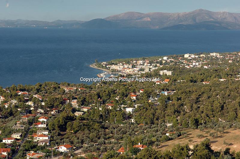 The seaside village of Agioi Apostoloi, 50 kilometres north-east of Athens Greece