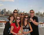 Guiding Light fans - left to right - Kim - Christine - Amanda - Brie - Sundi - Day 1 July 31, 2010 - So Long Springfield at Sea - A Final Farewell To Guiding Light sets sail from NYC to St. John, New Brunwsick and Halifax, Nova Scotia from July 31 to August 5, 2010  aboard Carnival's Glory (Photos by Sue Coflin/Max Photos)