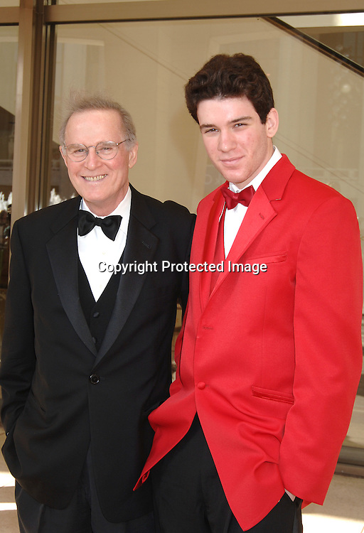 Charles Grodin and son Nick ..at The Film Society of Lincoln Center honoring Jessica Lange on April 17, 2006 at Avery Fisher Hall...Robin Platzer, Twin Images