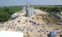 RAGBRAI riders arrive to the small town of Kesley.