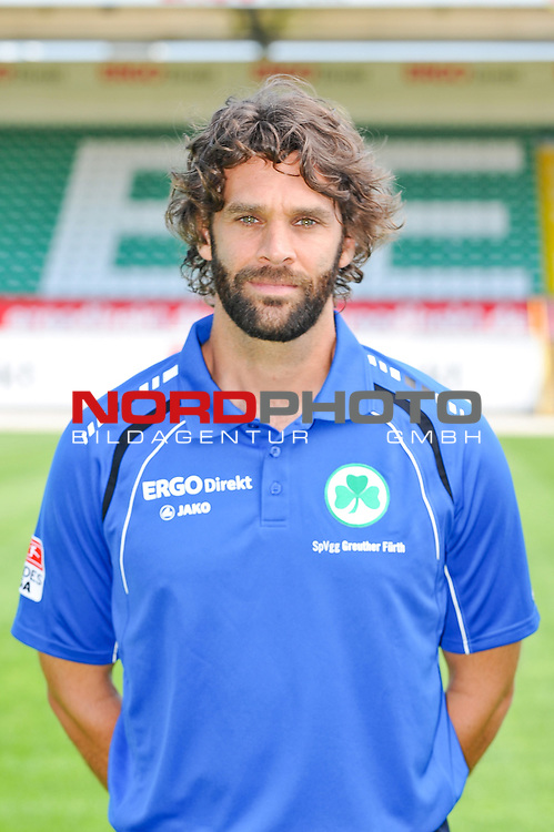 24.07.2012, Sportpark Ronhof, Trolli-Arena, Fuerth, GER, 1.FBL, Mannschaftsfoto, SpVgg Greuther Fuerth, im Bild Axel Doerrfuss (Athletik-Trainer)<br /> <br /> <br /> Foto &copy; nph / Merz *** Local Caption ***