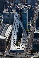 aerial photograph of Via 57 West, Manhattan, New York City