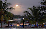 A full moon rises in Jamaica. (DOUG WOJCIK MEDIA)
