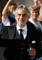 Il cantante Andrea Bocelli all'incontro internazionale di Papa Francesco con gli anziani e i nonni, in Piazza San Pietro, Citta' del Vaticano, 28 settembre 2014.<br /> Italian singer Andrea Bocelli attends the international meeting with elderly and grandparents celebrated by Pope Francis in St. Peter's square at the Vatican, 28 September 2014.<br /> UPDATE IMAGES PRESS/Riccardo De Luca<br /> <br /> STRICTLY ONLY FOR EDITORIAL USE
