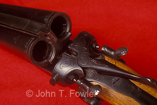 Traditional side by side shotgun classic
