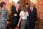 Madrid (22/02/2011).- SS.MM. Los Reyes D. Juan Carlos de Borbon y Da. Sofia de Grecia, acompanados por SS.AA.RR. Los Principes de Asturias, reciben al primer ministro del estado de Israel, D. Isaac Rabin...King Juan Carlos, Queen Sofia, Princess Letizia and Prince Felipe recieve Israel prime Minister Isaac Rabin at Madrid Royal Palace on february 22nd 2011....Photo: Pool Alex Cid-Fuentes / ALFAQUI..