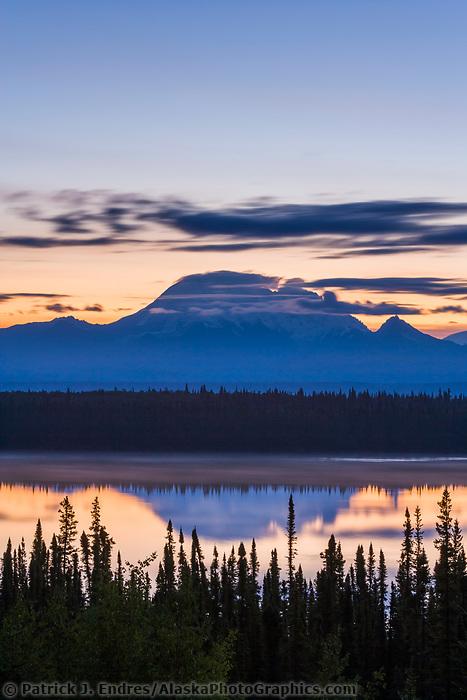 Mount Drum, 12,010ft, of the Wrangell Mountains, Wrangell St. Elias National Park, Alaska.