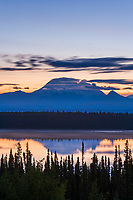 Mount Drum, 12,010ft, of the Wrangell Mountains, Wrangell St. Elias National Park, Alaska.