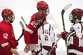 Connor Murphy (Cornell - 12), Alec McCrea (Cornell - 29), Tyler Moy (Harvard - 2), Ty Pelton-Byce (Harvard - 11) - The Harvard University Crimson defeated the visiting Cornell University Big Red on Saturday, November 5, 2016, at the Bright-Landry Hockey Center in Boston, Massachusetts.