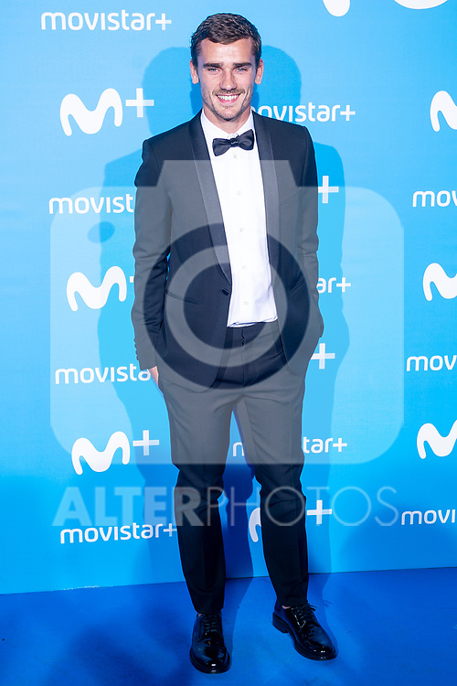 Antoine Griezmann attends to blue carpet of presentation of new schedule of Movistar+ at Queen Sofia Museum in Madrid, Spain. September 12, 2018. (ALTERPHOTOS/Borja B.Hojas)