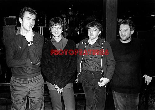 The Stranglers 1980 Hugh Cornwall, JJ Burnel, Dave Greenfield and Jet Black.© Chris Walter.